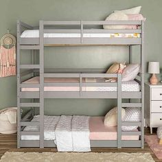 Forest Gate 3-Level Triple Twin Bunk Bed | Bed Bath & Beyond