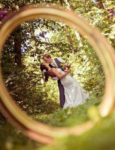 Portrait through your wedding ring