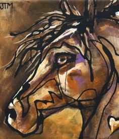 Equine Artists International   Contemporary Fine Art International:  Abstract Horse Art By Oklahoma Contemporary Equine Artist Jonelle T.