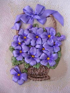 Wonderful Ribbon Embroidery Flowers by Hand Ideas. Enchanting Ribbon Embroidery Flowers by Hand Ideas. Embroidery Designs, Ribbon Embroidery Tutorial, Silk Ribbon Embroidery, Crewel Embroidery, Cross Stitch Embroidery, Embroidery Patterns, Embroidery Books, Embroidery Supplies, Embroidered Silk