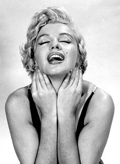 Marilyn Monroe photographed by Philippe Halsman, 1954.