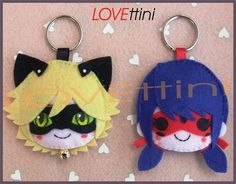 Miraculous Ladybug ミラクルス・レディバグ Adrien , Chat noir ,Lady bug and Marinette Felt Diy, Felt Crafts, Diy And Crafts, Miraculous Ladybug Party, Ladybug Und Cat Noir, Anime Crafts, Ladybug Crafts, Felt Hair Clips, Plush Pattern