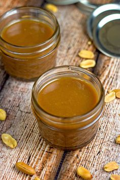 """This easy caramel sauce recipe is actually a fake out. Peanut Butter """"Caramel"""" Sauce has the appearance of caramel sauce, but it's made with peanut butter. This four ingredient recipe is super simple to whip up. Dessert Sauces, Dessert Recipes, Freezer Desserts, Dessert Ideas, Sauce Recipes, Cooking Recipes, Bar Recipes, Oven Recipes, Easy Cooking"""