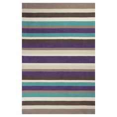Hand-tufted wool rug with multicolor striping. Made in India.  Product: RugConstruction Material: Wool and cotto...