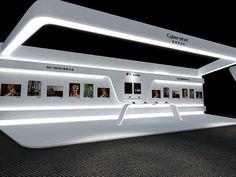 Exhibition Stall, Exhibition Booth Design, Exhibition Display, Exhibit Design, Store Window Displays, Futuristic Interior, Architecture Wallpaper, Backdrop Design, Display Design
