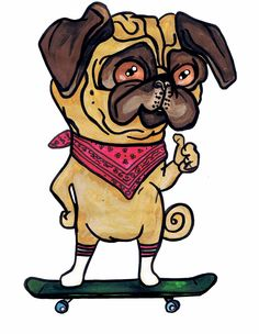 Derya Aktas Art  Newsest member in the bandana pug illustration series