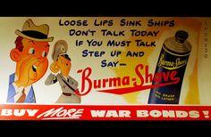Vintage Burma shave