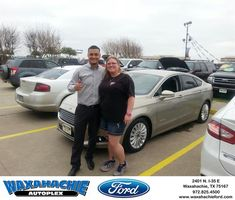 Happy Anniversary to Ashley on your #Ford #Fusion from Javier Palos at Waxahachie Ford!  https://deliverymaxx.com/DealerReviews.aspx?DealerCode=E749  #Anniversary #WaxahachieFord
