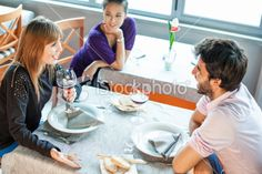 friends at the restaurant Royalty Free Stock Photo