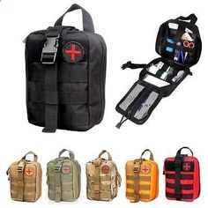 Medical First Aid Kit Tactical Survival Kit Molle Rip-Away EMT Pouch IFAK Bag