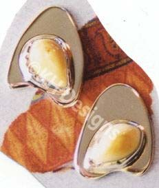 Sterling Silver and Elk Ivory Post Earrings.  khdesigns.com Elk Ivory, Beautiful Necklaces, Handmade Jewelry, Sterling Silver, Teeth, Earrings, Vanilla, Jewels, Modern