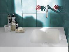 Design Handwaschbecken Badezimmer Modern Minimalistisch Weiss Wasserhahn  Wandmontage #badezimmer #bathroom #ideas