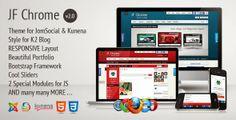 Download JF Chrome v2.0 – Themeforest Joomla Kunena JomSocial Template   لمسات   التقنية