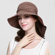 ea5847845f482 Spring summer sun protection hat for women cotton UV cloak sun hats