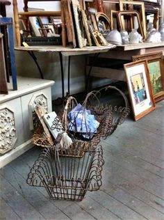 Treasure trove of Antiques, Frames, Wire Baskets