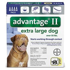 Bayer Advantage II Extra Large Dogs Over 55Pound 4Month *** Check out this great product. This is an Amazon Affiliate links.