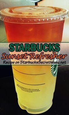 Starbucks Sunset Refresher Starbucks Sunset Refresher,Drinks Brighten up your day with a  Sunset Refresher!  Related posts:Funny Dog Shirts For Women - Gifts for dog loversWählen und kopieren Sie: 18 Summer Bag Modelle. Bebidas Do Starbucks, Starbucks Tea, Starbucks Hacks, Healthy Starbucks Drinks, Starbucks Secret Menu Drinks, Starbucks Refreshers, Starbucks Order, Refreshing Drinks, Pina Colada