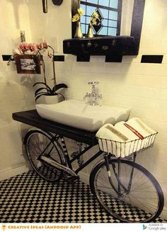 BikeInfused Bathrooms Sinks Bathroom Vanities And Vanities - Bike bathroom sink ideal modern bathroom design vintage style