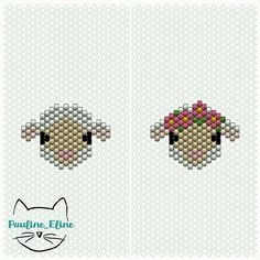 Les petits moutons ont fait l'unanimité ! 🐑🐑🐑 voici le diagramme pour les réaliser,  ça va vite à faire comme ils sont petits. Je crois que je vais essayer d'autres couleurs,  peut être noir? Amusez vous! #jenfiledesperlesetjassume ##miyukibeads #miyukiaddict #miyuki  #perleaddict #perlesaddictanonymes #perles #mouton #sheep #diagrammeperles #beadpattern #pattern #motifpauline_eline Peyote Stitch Patterns, Hama Beads Patterns, Beaded Jewelry Patterns, Beading Patterns, Miyuki Beads, Beaded Animals, Bracelet Crafts, Knitting Charts, Bead Jewellery