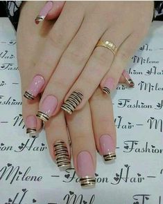 Hey there lovers of nail art! In this post we are going to share with you some Magnificent Nail Art Designs that are going to catch your eye and that you will want to copy for sure. Nail art is gaining more… Read Simple Nail Art Designs, Cute Nail Designs, Easy Nail Art, Pink Nail Art, Pink Nails, My Nails, Stylish Nails, Trendy Nails, Cute Nails