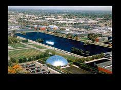 General Motors Technical Center, Warren Township north of Detroit, Eero Saarinen, 1950s.