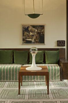 Eero Saarinen's Residence, Cranbrook #GISSLER #interiordesign