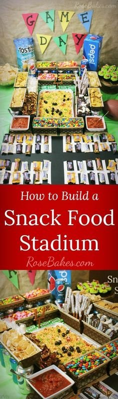 How to Build a Snack Food Stadium | RoseBakes.com #snacks #gamedayparty #CollectiveBias #ad #GameDayGlory #SuperBowl