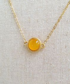 Honey gold necklace