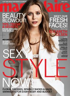 Elizabeth Olsen is one of Marie Claire's 5 fresh faces for May