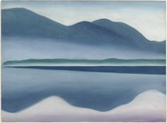 Lake George [formerly Reflection Seascape] (1922) by Georgia O'Keeffe Oil on canvas SFMOMA