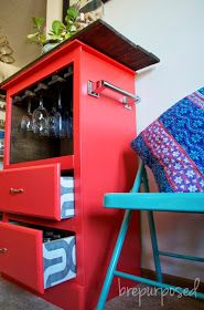 DIY furniture re-do into a kitchen island peninsula from a dresser-Brepurposed: Thursday SWEET HAUTE Share Linky Party feature