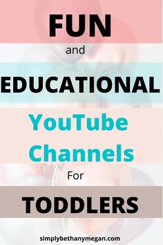 Running out of things for your toddler to do while stuck at home? Here are some fun AND educational YouTube channels your child will LOVE! You'll feel better about screen time knowing they're learning too! Check out this list of fun and educational YouTube channels. #toddler #screentime #educationalfun Toddler Activities, Toddler Chores, Toddler Schedule, Educational Activities, Toddler Crafts, Educational Youtube Channels, Happy Mom, Happy Kids, Gentle Parenting
