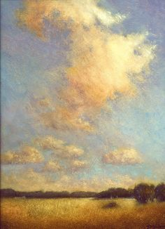 summer clouds ~ oil on board ~ by tony damico