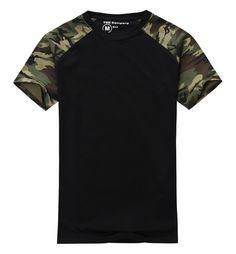 Человек свободного покроя камуфляж футболки мужчин хлопок армии тактического боя майка военно спортивный камо лагерь мужские футболки мода 2016 тис купить на AliExpress