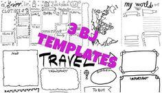 3 traveler notebook luggage bullet journal travel starter kit tourist vacation trip planner template journaling  download lasoffittadiste