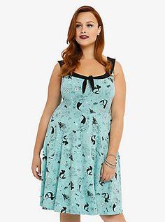 Disney The Little Mermaid Collection Skater Dress, ARIEL RETRO SEAS