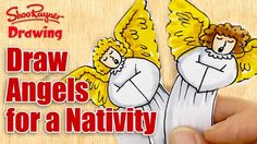 How to draw the Angels - make a Nativity Scene