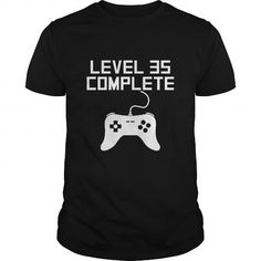 Level 35 Complete 35th Birthday LIMITED TIME ONLY. ORDER NOW if you like, Item Not Sold Anywhere Else. Amazing for you or gift for your family members and your friends. Thank you! #complete #shirts