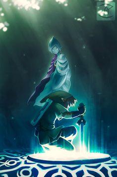 The Legend of Zelda: Skyward Sword, Link and Fi / Awaiting His Return by Art-Zealot on deviantART