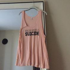 High Heels Suicide Liquid Logo Tank Original High Heels Suicide. Great condition. American Apparel. Size +2 High Heels Suicide Tops Tank Tops