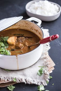 Rustic Lamb And Coconut Curry - made it with beef and it was seriously good!