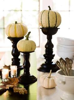 Candle sticks with pumpkins#Repin By:Pinterest++ for iPad#