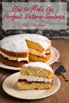 How to make the Perfect Victoria Sandwich Mexican Food Recipes, Dessert Recipes, Desserts, Frosting Recipes, Cupcake Recipes, Sandwich Cake, Sandwiches, Sandwich Recipes, How To Make Cake