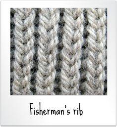 Fisherman's rib - Easy quick  chunky scarf knit