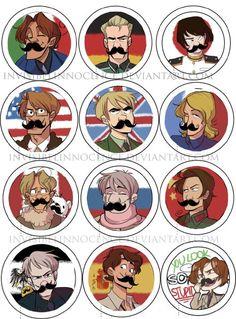 Hetalia with mustaches!