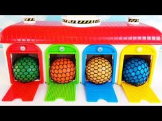 Learn Colors Tayo the Little Bus Slime Balls Garage Playset Surprise Toys Disney TMNT Kids Nursery Rhymes Songs, Kids Songs, Learning Colors, Kids Learning, Colours In Hindi, Tayo The Little Bus, Toy Garage, Rainbow Art, Educational Videos
