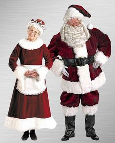 Mr and Mrs Claus costume for HALLOWEEN - maybe make it zombified