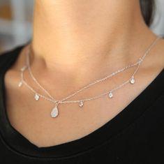 Aeria Layered Diamond Choker #FeminineFashion #diamonds
