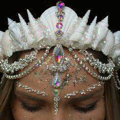 Glow in the Dark Glitter mermaid crown by chelseas flower crown and glo bindi