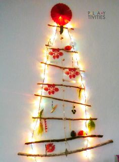 You only need minimal supplies and materials to build this DIY Christmas Tree in under one hour. Christmas Activities For Families, Christmas Games For Kids, Holiday Crafts For Kids, Diy Christmas Tree, Fun Activities For Kids, Christmas Crafts For Kids, Easy Homemade Christmas Gifts, Homemade Ornaments, Christmas Bazaar Crafts